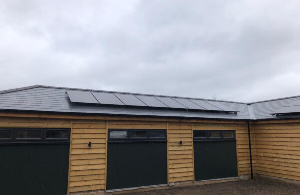 Solar panel system fitted to roof isle of wight
