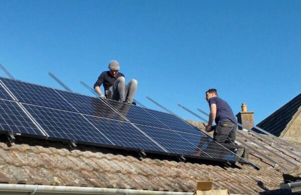 Island renewables fitting roof solar panels in freshwater