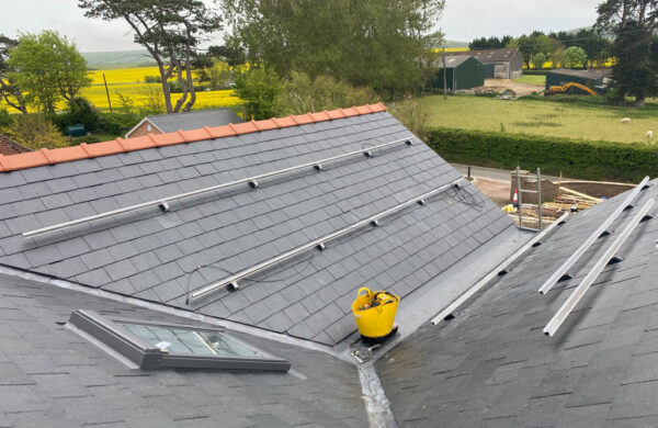 Solar panel fixings on a roof by island renewables
