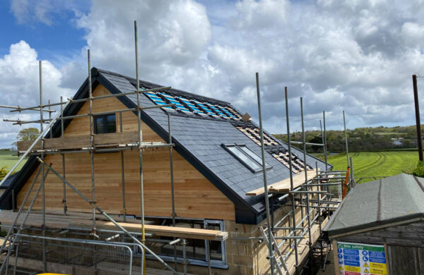 Roof Solar system fitted by island renewables