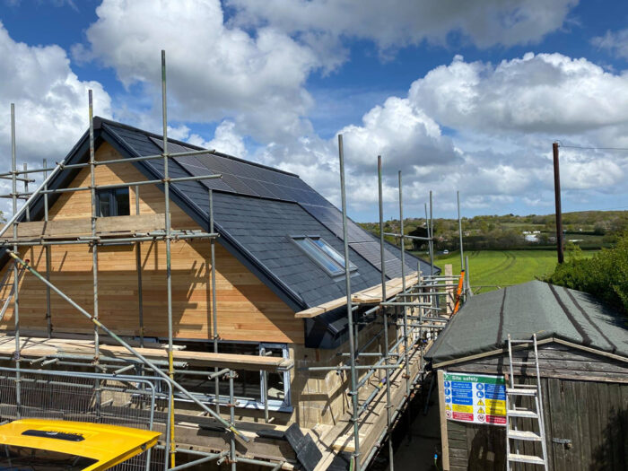 completed roof solar pv system isle of wight