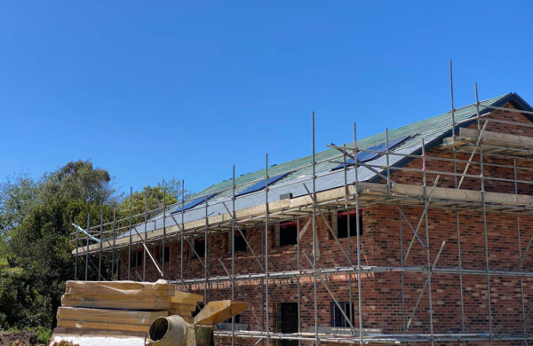 House and roof with solar panels fitted island renewables