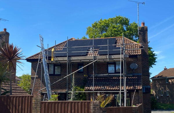 JA Solar panels on roof fitted by Island renewables