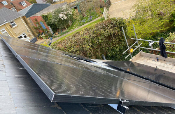 Solar panels fitted to roof by island renewables