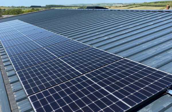Domestic Solar panels fitted to roof isle of wight