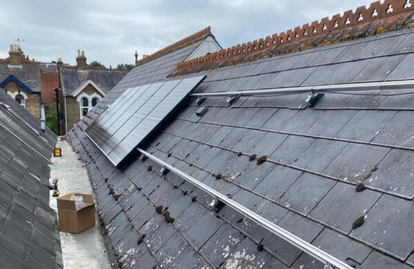 Solar PV System on roof cowes isle of wight