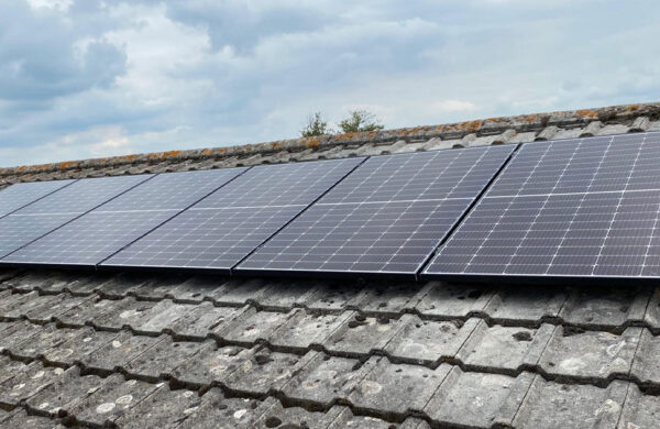 Solar panels fitted to roof