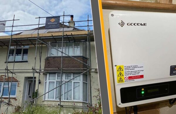 Goodwe inverter and solar panels fitted by island renewables