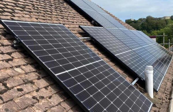 Solar PV roof install carisbrooke isle of wight