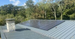 Completed solar pv install by island renewables