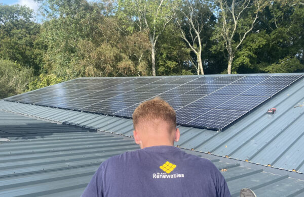 Roof After solar install by island renewables