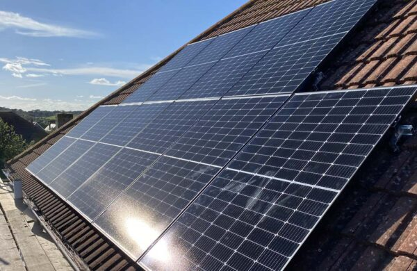 side view of solar panels fitted by island renewables